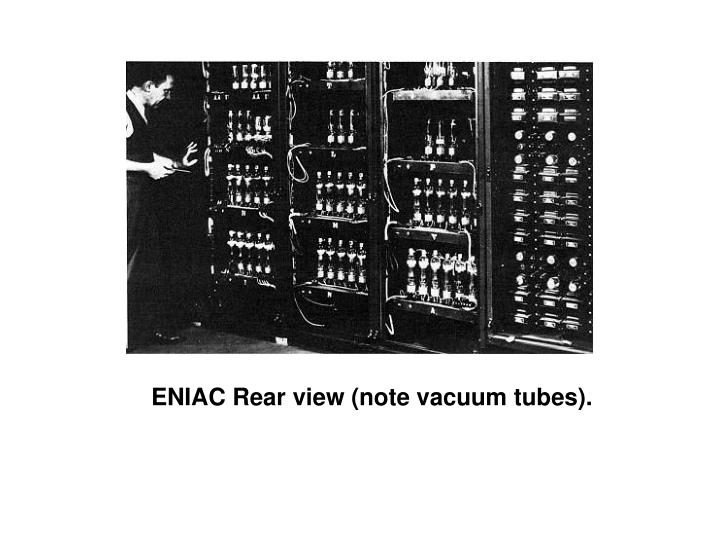 ENIAC Rear view (note vacuum tubes).