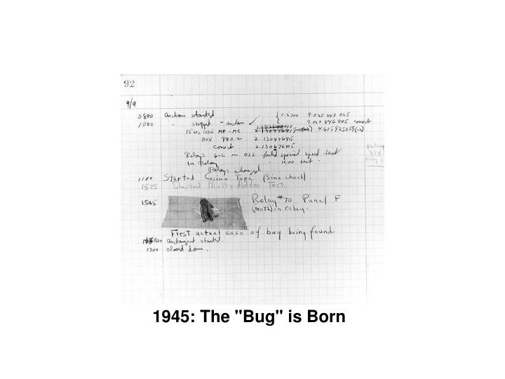 "1945: The ""Bug"" is Born"