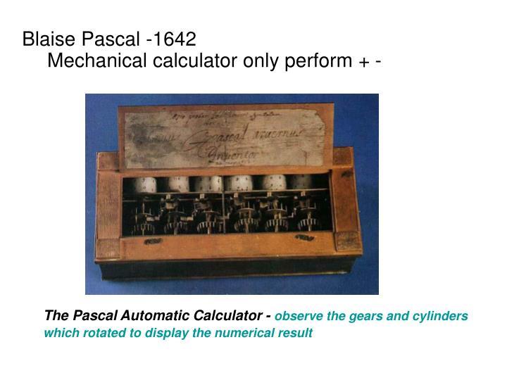 Blaise Pascal -1642