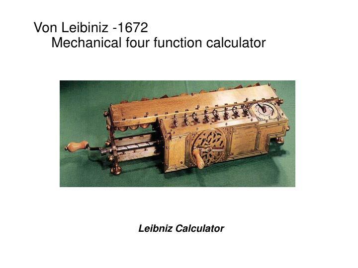Von Leibiniz -1672