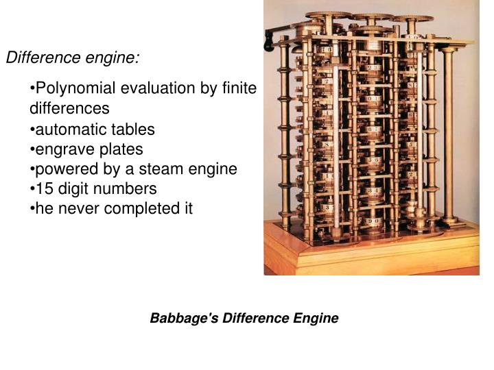 Difference engine: