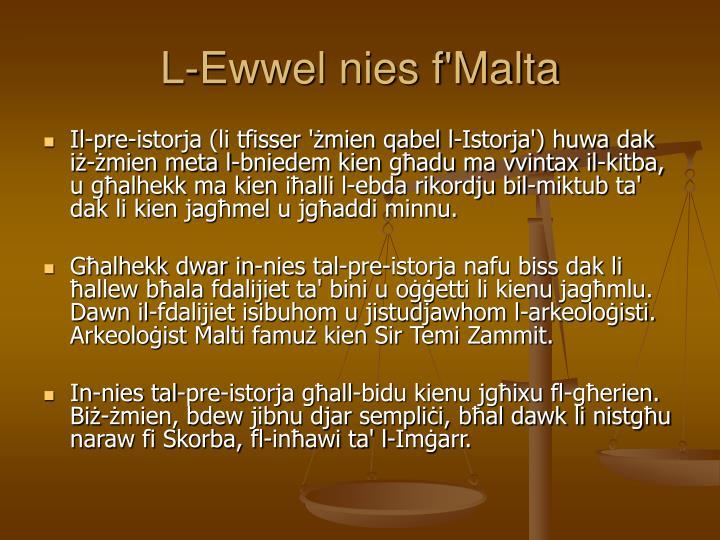 L-Ewwel nies f'Malta