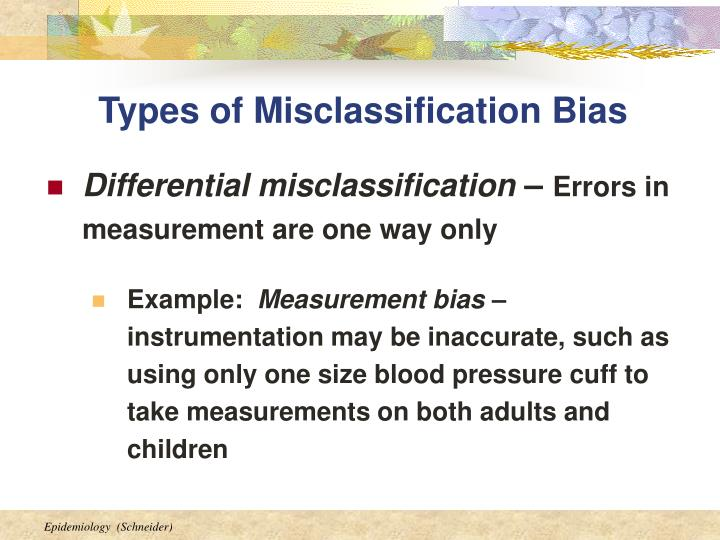 Types of Misclassification Bias