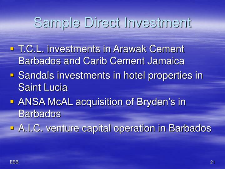 Sample Direct Investment