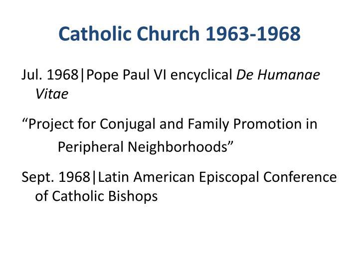 Catholic Church 1963-1968