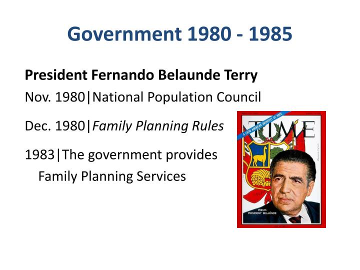 Government 1980 - 1985