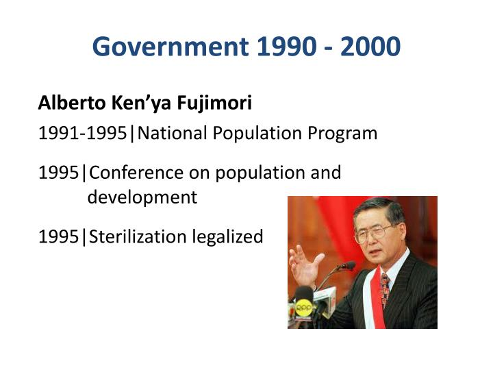 Government 1990 - 2000