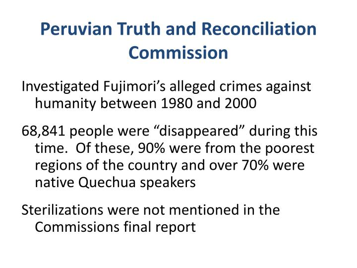 Peruvian Truth and Reconciliation Commission