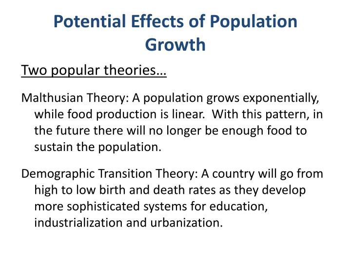 Potential Effects of Population Growth
