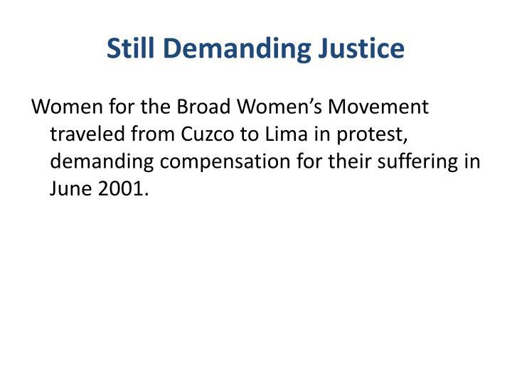 Still Demanding Justice