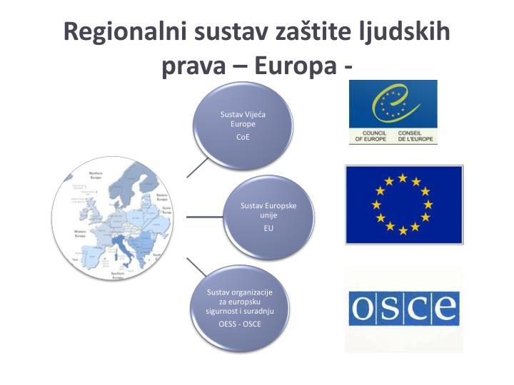 Regionalni sustav zaštite ljudskih prava – Europa -