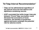 td tdap interval recommendation