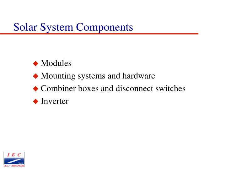 Solar System Components