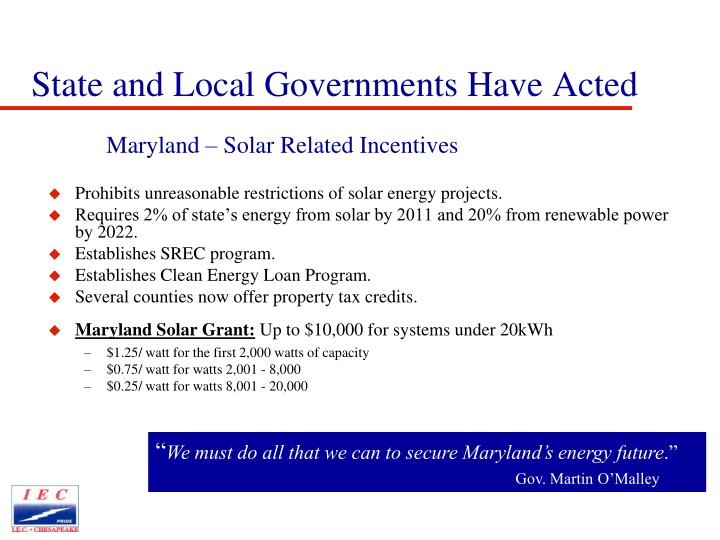 State and Local Governments Have Acted