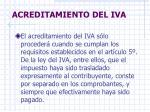 acreditamiento del iva
