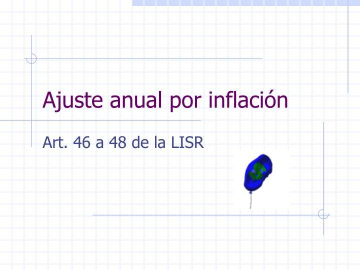 Ajuste anual por inflación