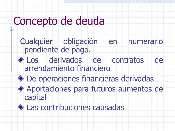 Concepto de deuda