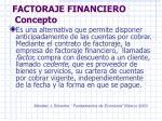 factoraje financiero concepto