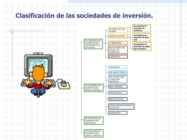 Clasificación de las sociedades de inversión.