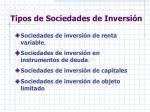 tipos de sociedades de inversi n