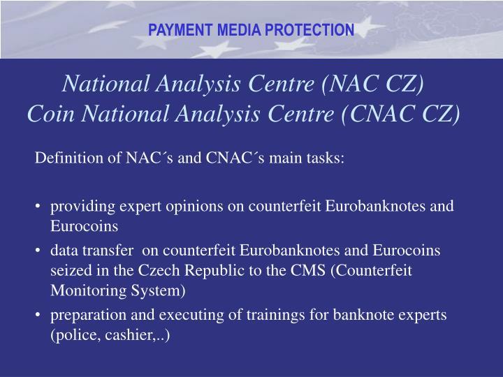 National Analysis Centre (NAC CZ)