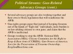 political streams gun related advocacy groups cont