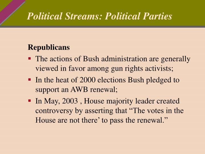Political Streams: Political Parties