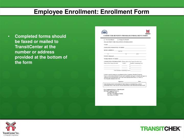 Employee Enrollment: Enrollment Form