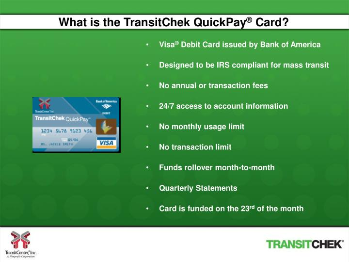 What is the TransitChek QuickPay