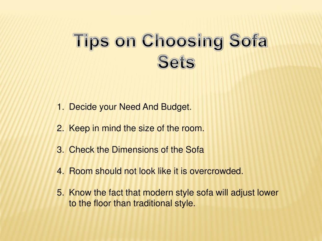 Tips on Choosing Sofa Sets
