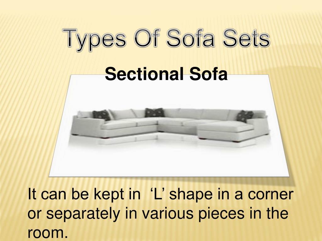 Types Of Sofa Sets