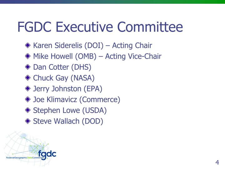 FGDC Executive Committee