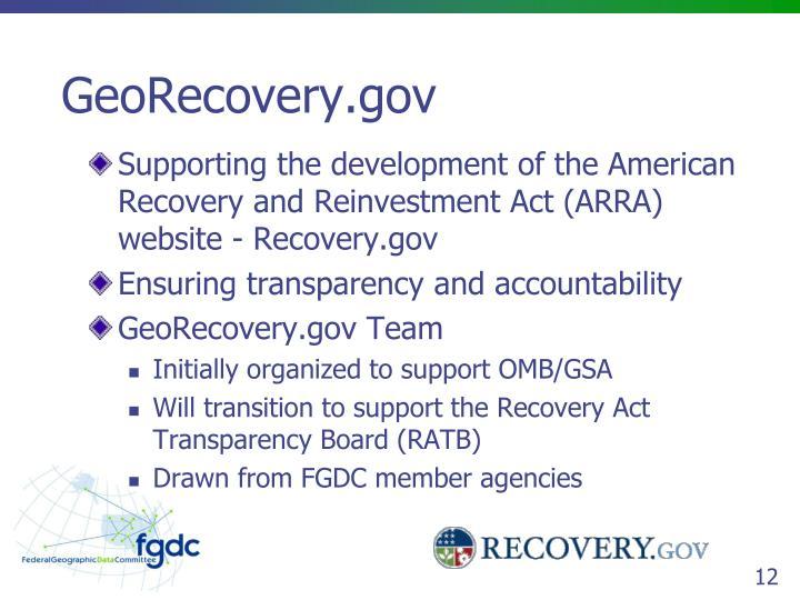 GeoRecovery.gov