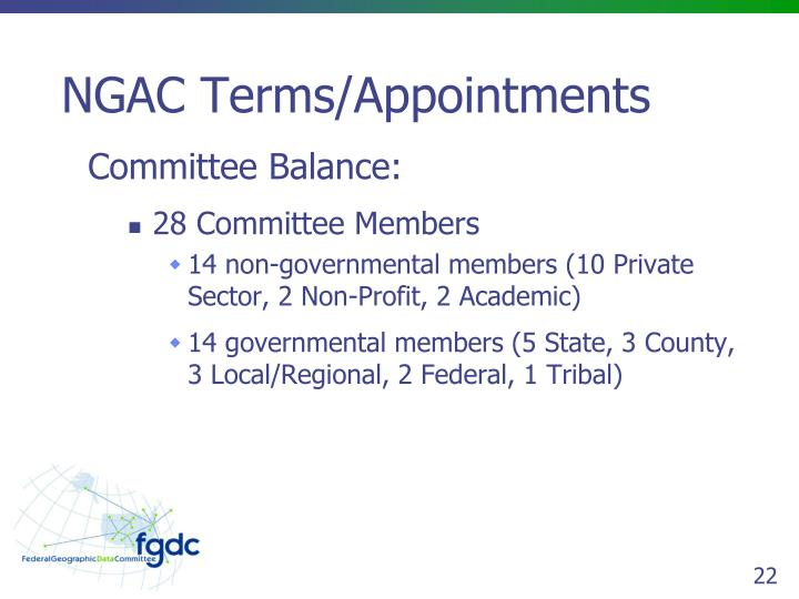 NGAC Terms/Appointments