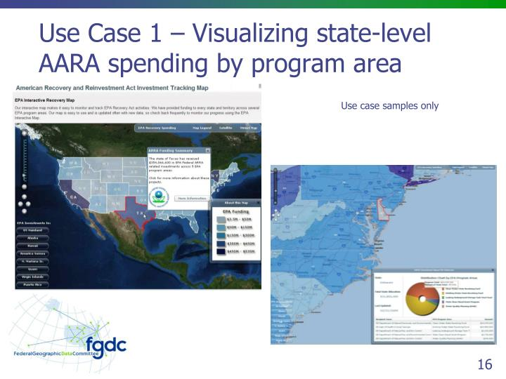 Use Case 1 – Visualizing state-level AARA spending by program area