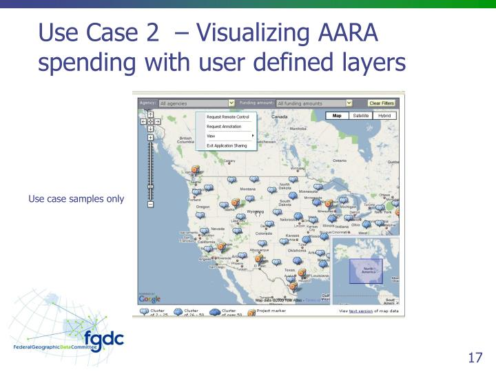 Use Case 2  – Visualizing AARA spending with user defined layers