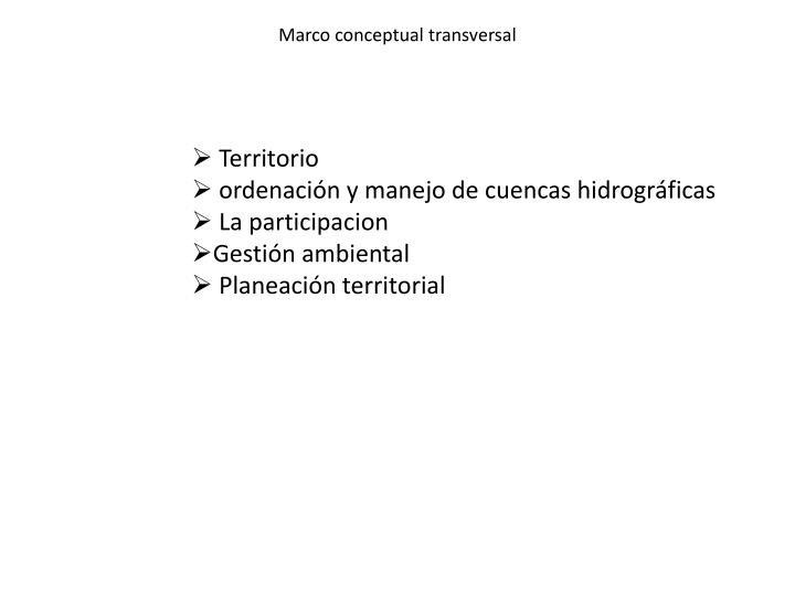 Marco conceptual transversal