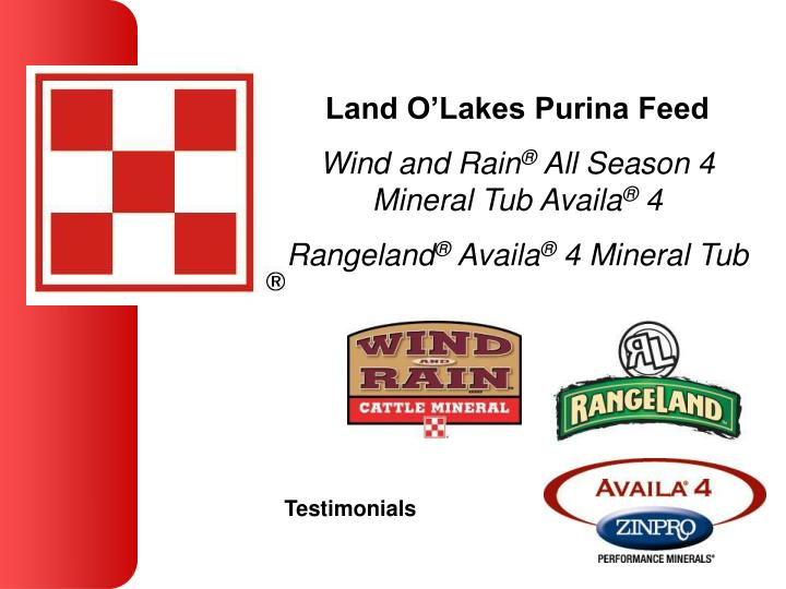 Land O'Lakes Purina Feed