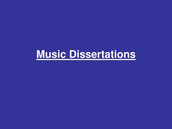 Music Dissertations