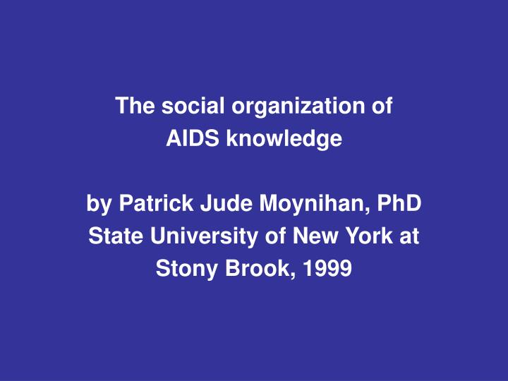 The social organization of