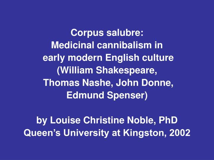 Corpus salubre: