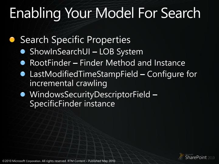 Enabling Your Model For Search