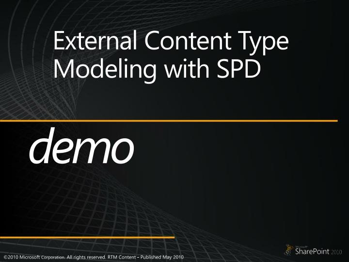 External Content Type Modeling with SPD