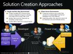 solution creation approaches