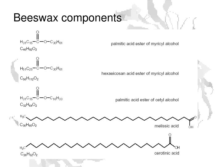 Beeswax components
