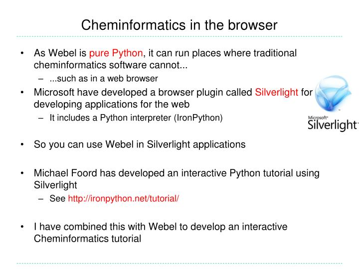 Cheminformatics in the browser