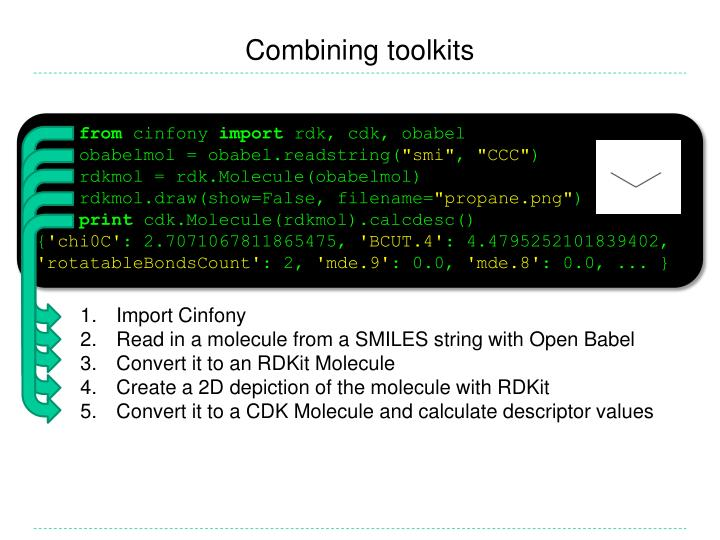 Combining toolkits