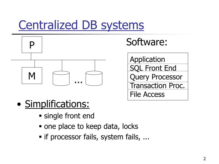 Centralized db systems