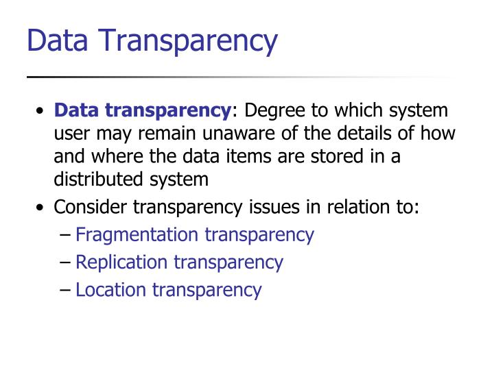 Data transparency