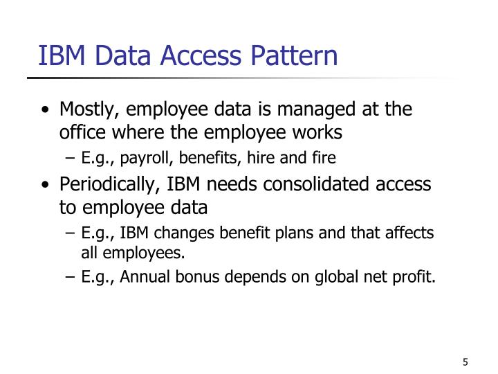 IBM Data Access Pattern